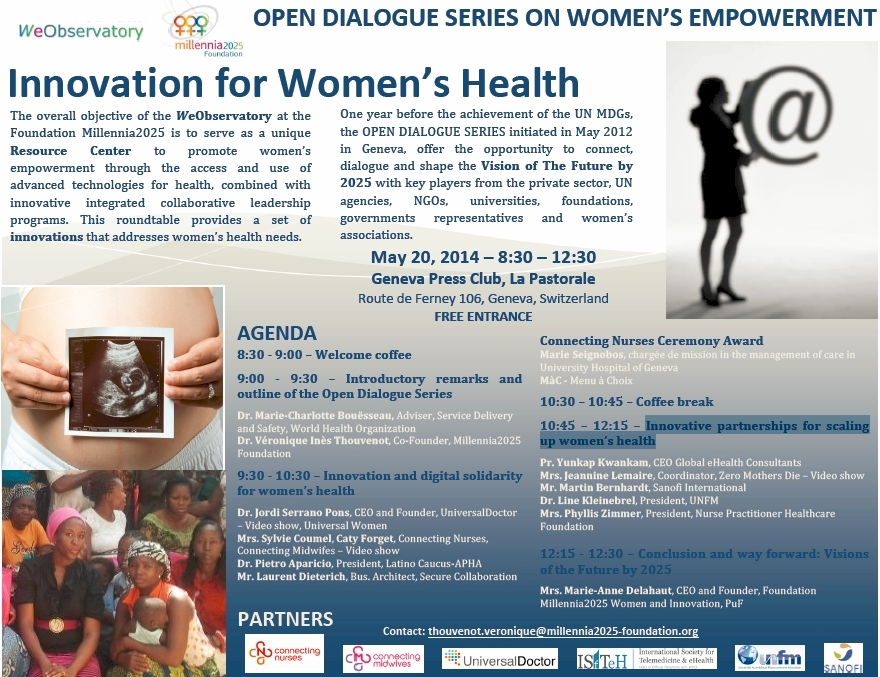 Millennia2025 WeObservatory - Innovation for Women's Health - Geneva, 2014-05-20