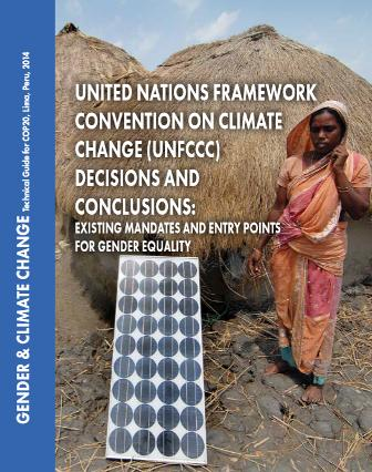 UN Framework Convention on Climate Change Decisions and Conclusions - Gender Equality