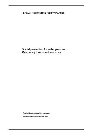 Social protection for older persons: Key policy trends and statistics