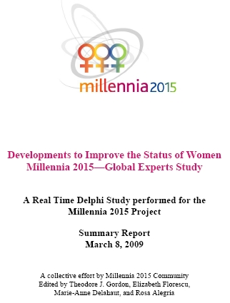 Millennia 2015 RTD 2009 - evelopments to Improve the Status of women